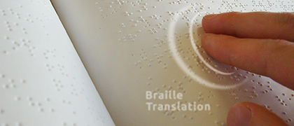 Translation Services Braille Localization